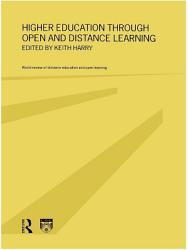 Higher Education Through Open And Distance Learning Book PDF
