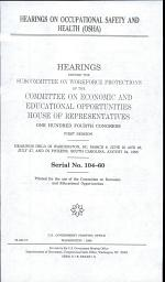 Hearings on Occupational Safety and Health (OSHA)