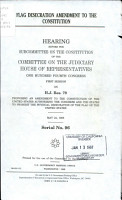 Flag Desecration Amendment to the Constitution PDF