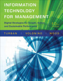 Information Technology For Management Digital Strategies For Insight Action And Sustainable Perfo