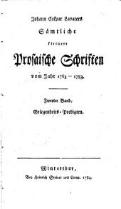Sämmtliche kleine prosaische Schriften vom Jahre: Band 2