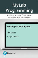 Mylab Programming With Pearson Access Card for Starting Out With Python PDF