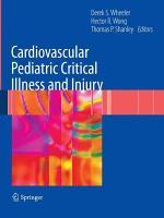 Cardiovascular Pediatric Critical Illness and Injury PDF
