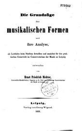 Die Grundzüge der musikalischen Formen und ihre Analyse