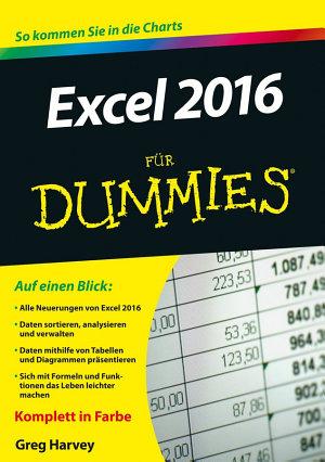 Excel 2016 f  r Dummies PDF