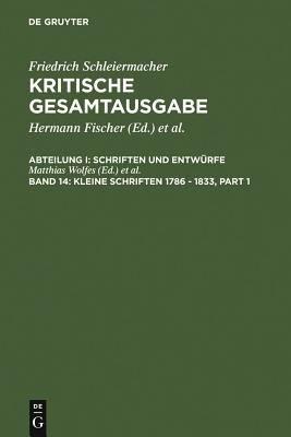 Kleine Schriften 1786 1833 PDF