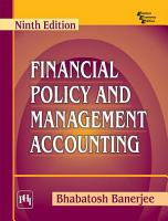 FINANCIAL POLICY AND MANAGEMENT ACCOUNTING PDF