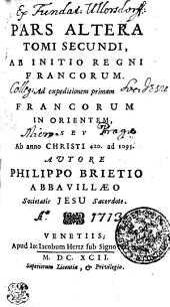 Annales Mundi Seu Chronicon Universale: Ab Initio Regni Francorum Ad expeditionem primam Francorum In Orientem, Sev Ab anno Christi 420. ad 1095. Pars Altera. Tomi Secundi, Volume 2, Page 2
