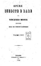 Opere inedite e rare di Vincenzo Monti