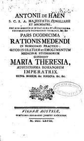 Antonii de Haen [...] ratio medendi in nosocomio practico [...]: Volume 6