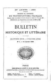 Bulletin historique et littéraire: Volume45