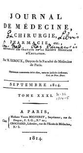 Journal de médecine, chirurgie, pharmacie, etc: Volumes31à32