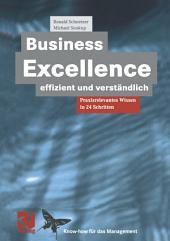 Business Excellence effizient und verständlich: Praxisrelevantes Wissen in 24 Schritten