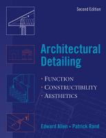 Architectural Detailing PDF
