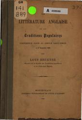 La littérature anglaise et les traditions populaires: conférence faite au cercle Saint-Simon le 27 nov. 1886