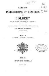 Lettres, instructions et mémoires de Colbert: Volume3