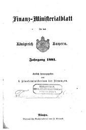 Finanz-ministerialblatt für den freistaat Bayern