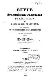 Revue étrangère de législation et d'économie politique: Volume2