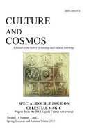Culture and Cosmos Vol 19 1 And 2