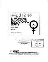 Resources in Women s Educational Equity  Special Issue PDF