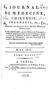 Journal de médecine, chirurgie, pharmacie, etc: Volumes27à28
