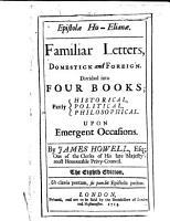 Epistol   Ho Elian    Familiar Letters     The eighth edition PDF