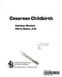 Cesarean Childbirth PDF