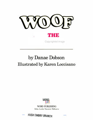 Woof and the Big Fire PDF