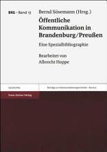 ffentliche Kommunikation in Brandenburg Preussen PDF