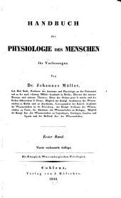 Handbuch der Physiologie der Menschen: für Vorlesungen