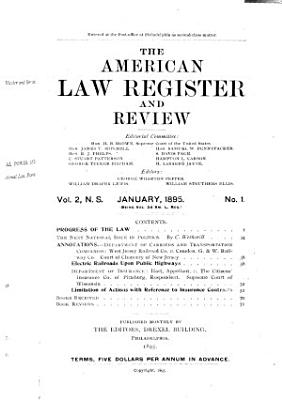 The American Law Register and Review PDF