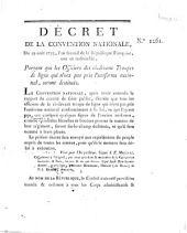 Decret de la Convention Nationale: Volume 1261