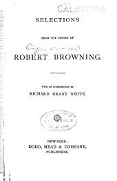 Selections from the Poetry of Robert Browning