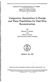 Cooperative associations in Europe and their possibilities for post-war reconstruction