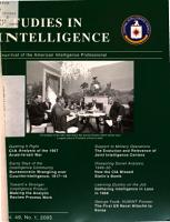 Studies in Intelligence PDF