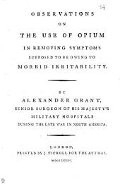 Observations on the Use of Opium