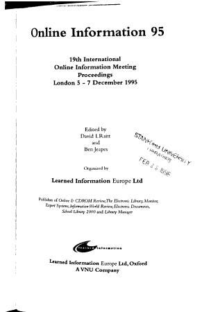 Online Information     PDF