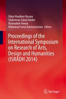 Proceedings of the International Symposium on Research of Arts  Design and Humanities  ISRADH 2014  PDF