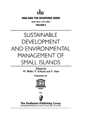 Sustainable Development and Environmental Management of Small Islands PDF