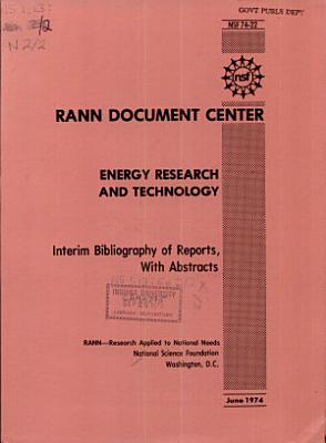 Energy Research and Technology