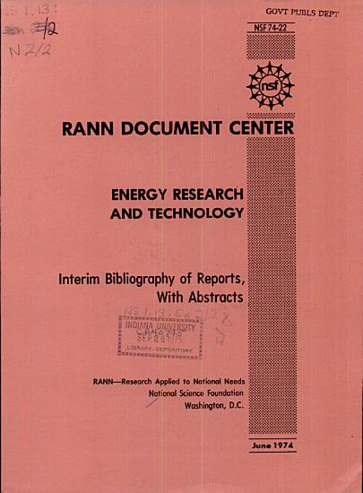 Energy Research and Technology PDF