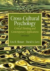 Cross Cultural Psychology Book PDF
