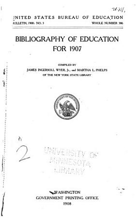 Bibliography of Education for PDF