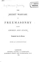 The Secret Warfare of Freemasonry Against Church and State PDF