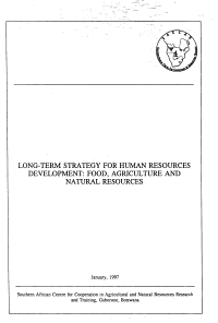 Long term Strategy for Human Resources Development PDF