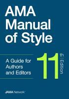 AMA Manual of Style PDF