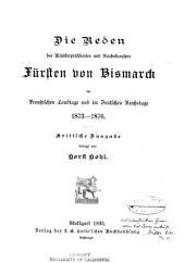 Die politischen reden des fürsten Bismarck: Band 6
