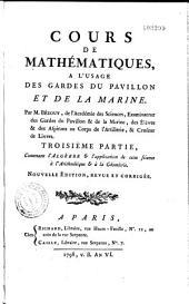 Cours de mathématiques à l'usage des gardes du pavillon et de la marine