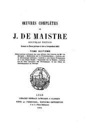Oeuvres complètes: contenant ses oeuvres posthumes et toute sa correspondance inédite, Volume8