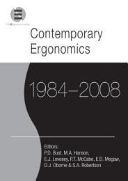 Contemporary Ergonomics 1984-2008